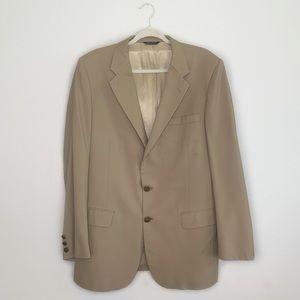 Burberry Blazer in Khaki 2 Button Vintage 44 Long
